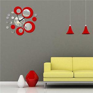 CasaNet-Orologio-da-Parete-Splendido-con-I-Numeri-Murales-Adesivi-Tono-3D-Effetto-Specchio-Rotondi-del-Cerchio-Rosso-Argento-Decorazione-Murali-da-Parete-Rimovibile-FAI-DA-TE-0-0