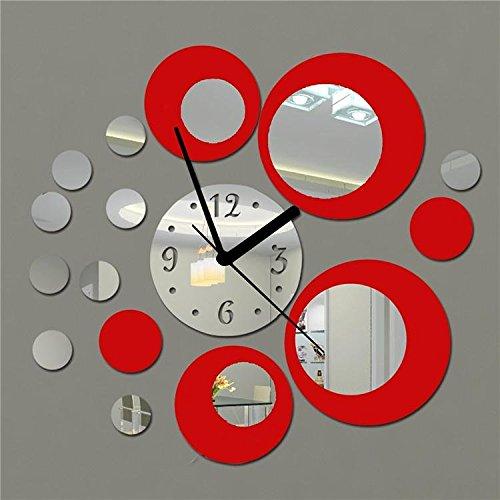 Orologio da parete con numeri tono 3d effetto specchio - Unghie effetto specchio fai da te ...