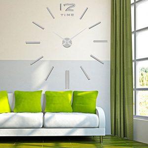 LifeUp-Orologio-da-Parete-Grandi-Argento-Adesivi-Murali-Decorazioni-da-Parete-Muri-Moderni-Fai-da-Te-Regalo-Originale-per-Mamma-Papa-Nonna-Amici-Compleanno-Matrimonio-0-0