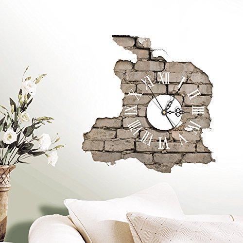 Orologio da Parete con Numeri Romani effetto muro dimensioni 39*38cm ...