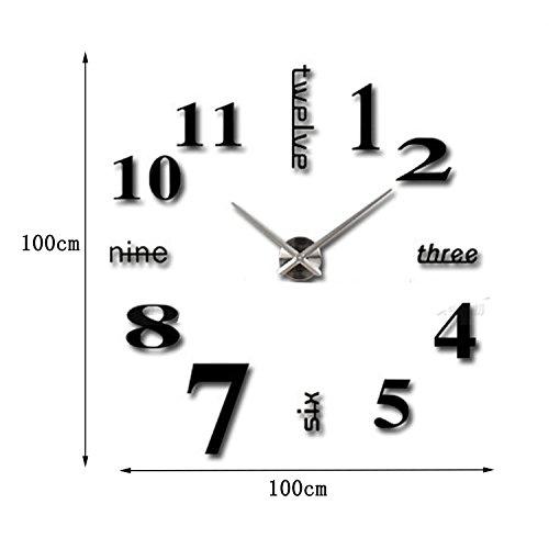 Orologio da parete stile moderno 3D sticker per casa e ufficio ...
