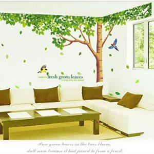 Rainbow-Fox-Albero-Adesivo-da-parete-per-Adesivo-da-parete-per-soggiorno-con-riproduzione-di-albero-a-foglie-verdi-0-0