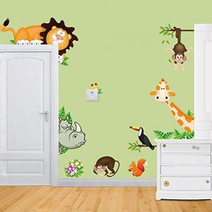 Rainbow-Fox-Albero-Fiore-Colorato-Simpatici-Gufi-Leone-Cervo-Adesivi-Murali-Camera-dei-Bambini-Vivai-Adesivi-da-Parete-RemovibiliStickers-MuraliDecorazione-Murale-0-2