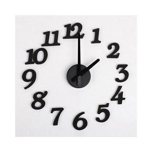 Orologio da parete digitale diy design d 39 artre schiuma di spugna mukkamu shop - Orologio da parete di design ...