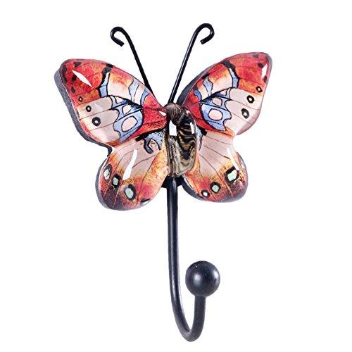 Gancio da parete per appendere motivo farfalla vintage for Ganci per appendere chitarre