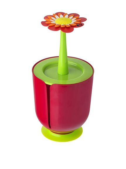 Porta carta igienica flower power con ventosa in pp per 1 - Accessori bagno a ventosa ...